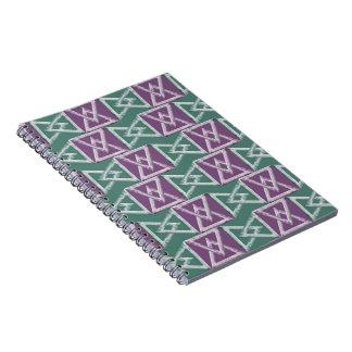 Geometriskt mönster för trianglar anteckningsbok med spiral