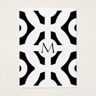 Geometriskt mönster visitkort