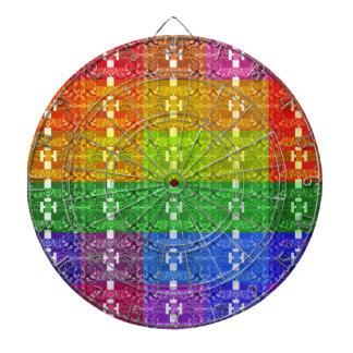 Geometriskt mönstertryck för regnbåge piltavla