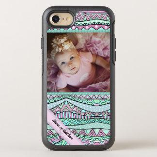 Geometriskt pastellfärgat mönster för roligt OtterBox symmetry iPhone 7 skal