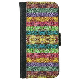 Geometriskt raster för färgrika abstrakt iPhone 6/6s plånboksfodral