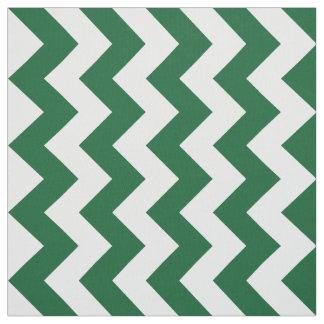 Geometriskt tyg för grönt- och vitsicksackmönster