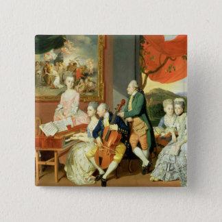 George 3rd Earl Cowper, med familjen av Charle Standard Kanpp Fyrkantig 5.1 Cm
