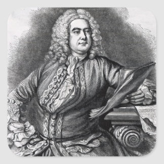 George Frederick Handel, 1749 Fyrkantigt Klistermärke
