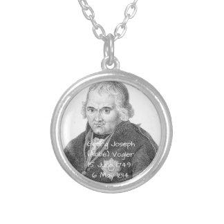 George Joseph (abben) Vogler Silverpläterat Halsband