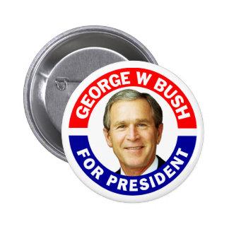 George W Bush för president Standard Knapp Rund 5.7 Cm