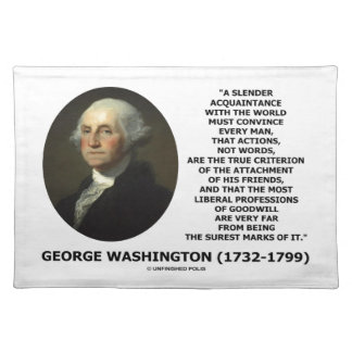 George Washington åtgärdar inte riktigt kriterium Bordstablett