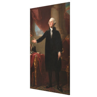 GEORGE WASHINGTON av Gilbert Stuart (Lansdowne) Canvastryck