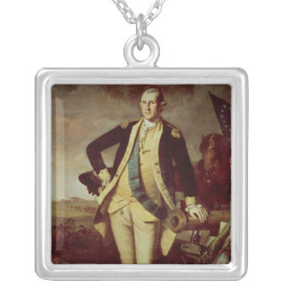 George Washington på Princeton, 1779 Silverpläterat Halsband