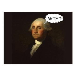 George Washington snurr i hans grav Vykort