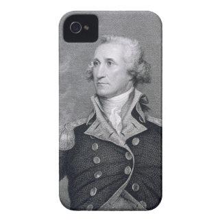 George Washington som inristas av Asherbruntet iPhone 4 Case-Mate Skydd