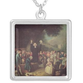 George Whitefield predika Silverpläterat Halsband