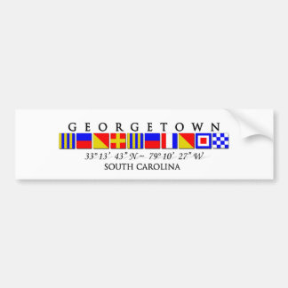 Georgetown SC signalerar flaggabildekalet Bildekal