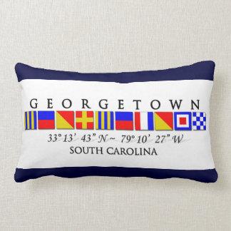 Georgetown SC signalerar flaggadekorativ kudde