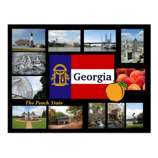 Georgia den statliga vykortet för persika vykort