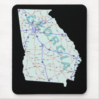 Georgia karta Mousepad Musmatta