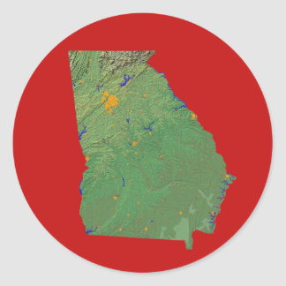 Georgia kartaklistermärke runt klistermärke