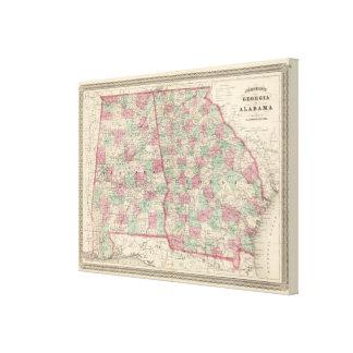 Georgia och Alabama 2 Canvastryck