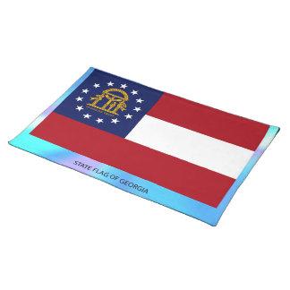 Georgia statlig flagga bordstablett