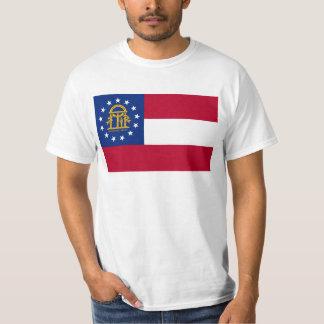 Georgia statlig flagga t-shirt