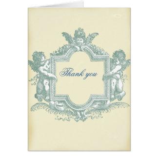 Georgiana (tackar kräm-) bröllop dig hälsnings kort