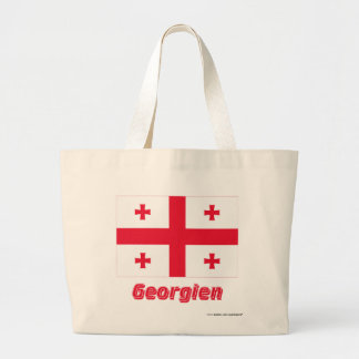 Georgien Flagge mit Namen Kassar