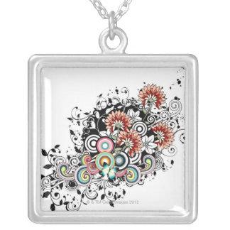 Gerber daisy silverpläterat halsband