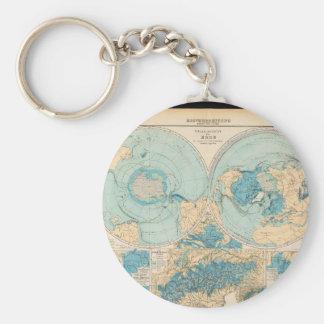 Geriatric världskarta 20 rund nyckelring