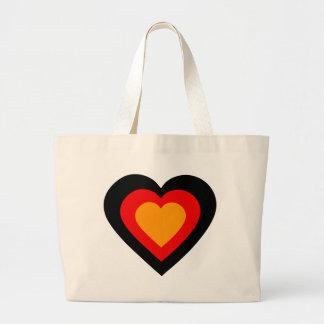 germany-heart. jumbo tygkasse