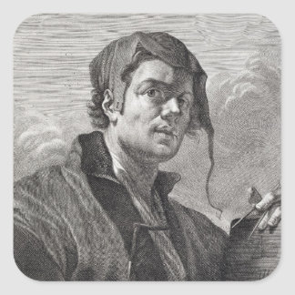 Gerrit skåpbil Honthorst (1590-1656) som inristas Fyrkantigt Klistermärke