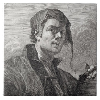 Gerrit skåpbil Honthorst (1590-1656) som inristas  Kakelplatta