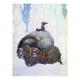 """Get för jul """"för Julebukking"""" vintage skandinavisk Vykort"""