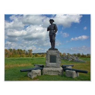 Gettysburg nationalpark - Buford minnesmärke Fototryck