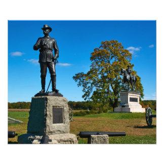 Gettysburg nationalpark - Buford och Reynolds Fototryck