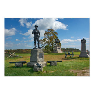 Gettysburg nationalpark - Buford & Reynolds Fototryck