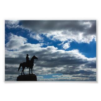 Gettysburg nationalpark - George Meade minnesmärke Fototryck