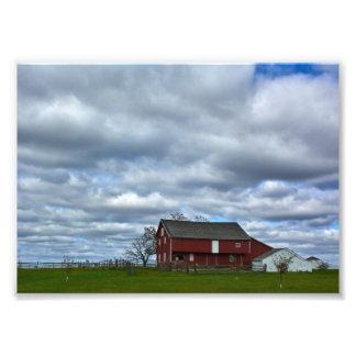 Gettysburg nationalpark - lantgårdland fototryck