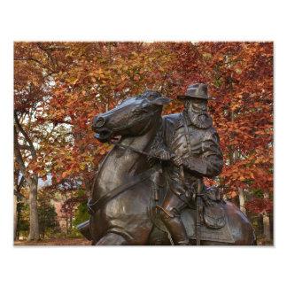 Gettysburg nationalpark - Longstreet minnesmärke Fototryck