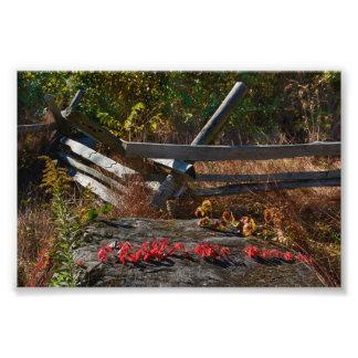 Gettysburg nationalpark - nedgång fototryck