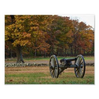 Gettysburg nationalpark - nedgång - kanon fototryck