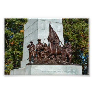 Gettysburg nationalparkVirginia minnesmärke Fototryck