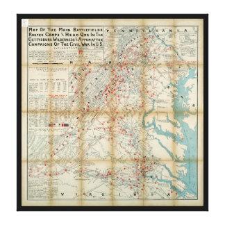 Gettysburg, vildmark & Appomattox Canvastryck