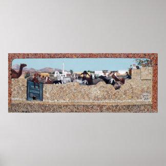 Getväggen - Dahab, södra Sinai Poster