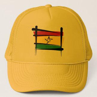 Ghana borstar flagga truckerkeps