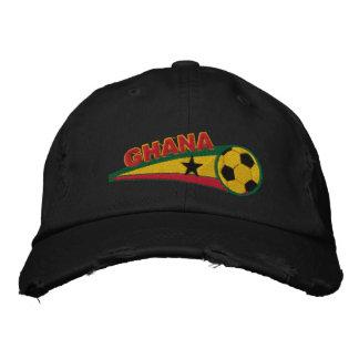 Ghana broderade fotbollbaseballmössan broderad keps
