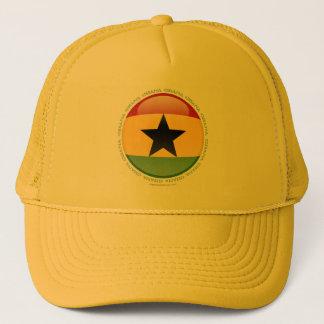 Ghana bubblar flagga keps