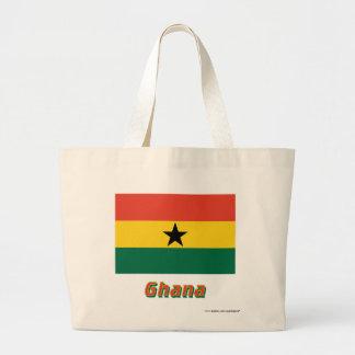 Ghana flagga med namn jumbo tygkasse