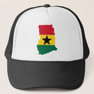 Ghana flaggakarta GH Truckerkeps