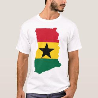 Ghana flaggakarta t-shirts