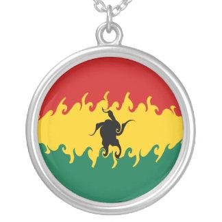 Ghana Gnarly flagga Halsband Med Rund Hängsmycke